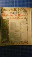 Die Meistersinger von Nürnberg-Richard Wagner B.Schott´s Söhne  H-8182