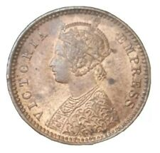 1894 BRITISH INDIA 1/12 ANNA AU RED HIGH GRADE 126 YEARS OLD COIN QUEEN VICTORIA