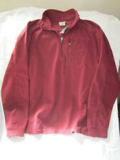 New With Tags Men's Size M L.L. Bean Wine Colored Fitness 1/4 Zip Fleece Top