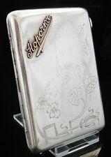 Russian Silver & Gold Cigarette Case, c.1900
