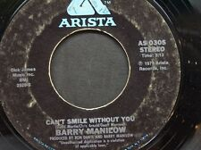 """BARRY MANILOW 45 RPM """"Can't Smile Without You"""" & """"Sunrise"""" VG- condition"""