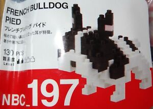 French Bulldog Nanoblock Micro Sized Building Block Construction Toy Kawada Mini