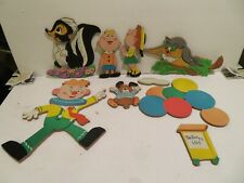 Vintage kids wall hangings,Nursery Kids Room Clown Balloons Boy Girl 9 Pcs 1979