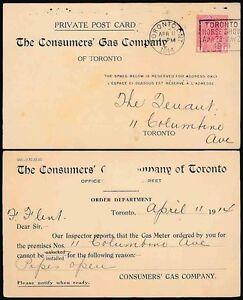 CANADA 1914 POSTAL STATIONERY...HORSE SHOW SLOGAN CANCEL