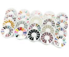 20 Mixed Color Nail Art Glitter Rhinestones Bead Decor Wheel Decorate