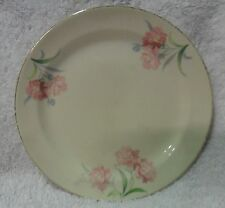 "Taylor Smith & Taylor 6 1/2"" Bread Dessert Plate Pink Roses Green Leaves 2469"