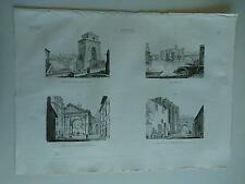 1845 Zuccagni-Orlandini Roma Ponte Milvio Isola Tiberina Portico Ottavia Nerva