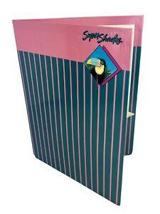 Vintage Super Shades Mead Portfolio Blue Pink Folder 1987 Toucan New Free Ship