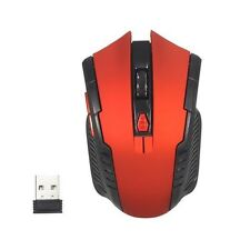 Generic 2.4G Portable Wireless USB Optical Gaming Mouse Mice PC Laptop Red