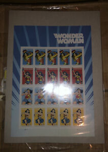 Wonder Woman 75th Anniversary Sheet 20 Forever Stamps Direct from USPS Unopened