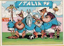 141208 CARTOLINA calcio italia 90 le cartoline del il monello okay