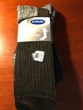 Dr Scholl's Mens 2 Pair Advanced Relief Wide Top Crew Socks Size 13-15