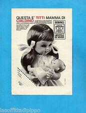 TOP970-PUBBLICITA'/ADVERTISING-1970- SEBINO -TITTI  MAMMA DI CIALDINO (B/W-A)