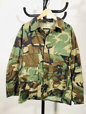 Vintage Vietnam 1970s US Army Tropical Woodland Camo Shirt Jacket Pocket Large