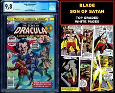 🔥 TOMB OF DRACULA 53 CGC 9.8 WHITE PAGES 💥 KEY BLADE & SON OF SATAN 💥 1 of 16