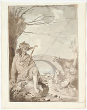 """Shepherd"", Continental School, Drawing, Early 19th Century"