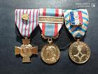 PL) Placard de médailles militaires françaises Algérie AFN french medal