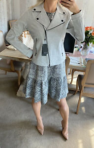 Armani Exchange Grey Cotton Biker jacket Size L New With Tags