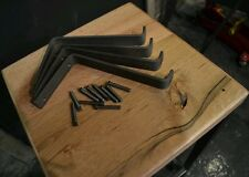 "(PAIR) 5"" Raw steel shelf bracket (hardware included)"