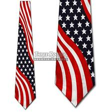 Stars Tie Stripes Neckties Mens Flag American Neck Tie Brand New