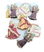 Vintage Clay Angels RR Roman Angel Ornament Bundle New  Lucie Lareau Christmas