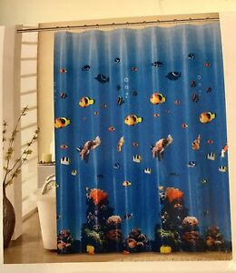 Broadway 13pc shower curtain with hook ocean imagination bathroom accessory