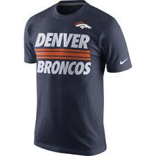 Men's The Nike Tee NFL Denver Broncos Team Stripe Navy T-shirt - Size: Large