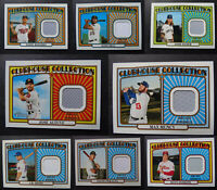 2021 Topps Heritage Clubhouse Collection Jersey Relic Card U You Pick From List