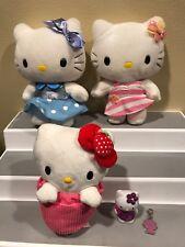Hello Kitty Plush Set Plus Figure & Charm