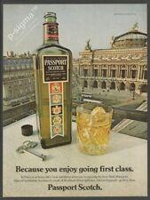 PASSPORT Scotch Whisky 1980 Vintage Print Ad