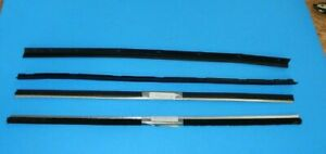 Set of 4 New Outer Door Waist Seal Set + Inner Fuzzy Weather Strip MGB 1963-80