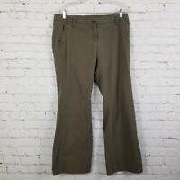 Express Pants Slacks Womens Size 10 Olive Green Pockets Flat Front Work Career