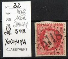 NAPOLEON dentélé 80c rose : n°32 GC 5118 YOKOHAMA