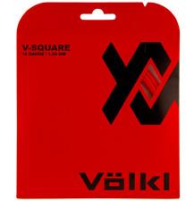 VOLKL V-SQUARE TENNIS STRING - 1.30MM 16G - ONE 12M SET - RED LAVA - RRP £21