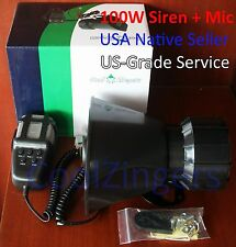100W Watt Car Horn Siren PA System 12V Loud Megaphone + Mic Motorcyle/RV/Truck