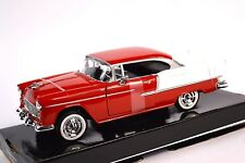 CHEVROLET BEL AIR 1955 MOTORMAX 73229 1:24 NEW DIECAST MODEL RED WHITE