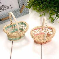 1Pcs Picnic Candies Rattan Basket Miniatures Fruit Storage Basket Ornaments New