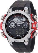 Armitron Men's Black Resin Digital Watch, 100 Meter WR, Chronograph, 40/8251RED
