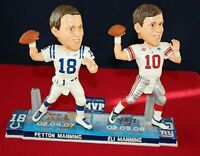 Peyton Manning & Eli Manning Super Bowl MVP Bobble Head NY Giants Indy Colts