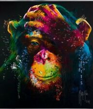 Murciano multi-coloured Monkey pictures with crystals, shimmer & mirror frames