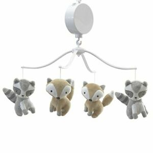 Bedtime Originals Little Rascals Forest Animals Musical Mobile Gray/White