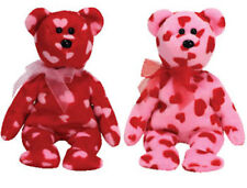 TY Beanie Babies - HALLMARK EXCLUSIVE BEARS (Set of 2 - Little Kiss & Squeeze