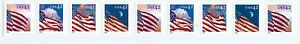 US 4244-47 42c flags PNC strip of 25 Plate no. V1111.  MNH SA New in package