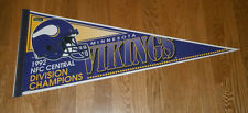 1992 Minnesota Vikings Central Division Champs pennant Cris Carter Terry Allen