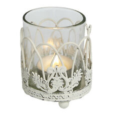 dotcomgiftshop SHABBY & CHIC TEA LIGHT CANDLE HOLDER DISTRESSED WEDDING DECOR