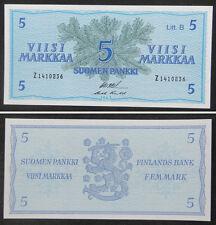 Finland Banknote 5 Markkaa 1963 UNC