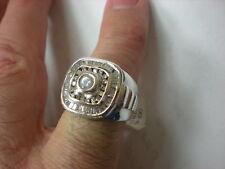 MENS 14KWG DIAMOND 1.75CTW CLUSTER RING, 16.4GR(XPV559-05)
