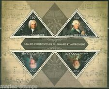 TOGO 2013 GREAT GERMAN & AUSTRIAN COMPOSERS BACH HAYDN MOZART GLUCK SHT  MINT NH