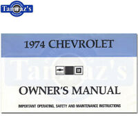 1974 Chevrolet Impala Caprice Owners Manual Bound New