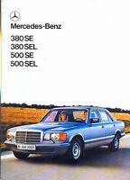 Mercedes-Benz S class W126 1980 French market sales brochure